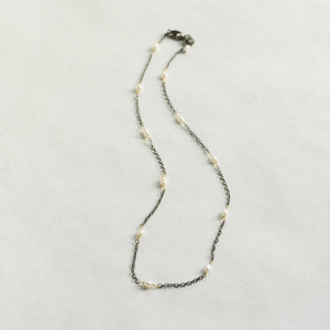 Gunmetal Chain with Pearls/Small