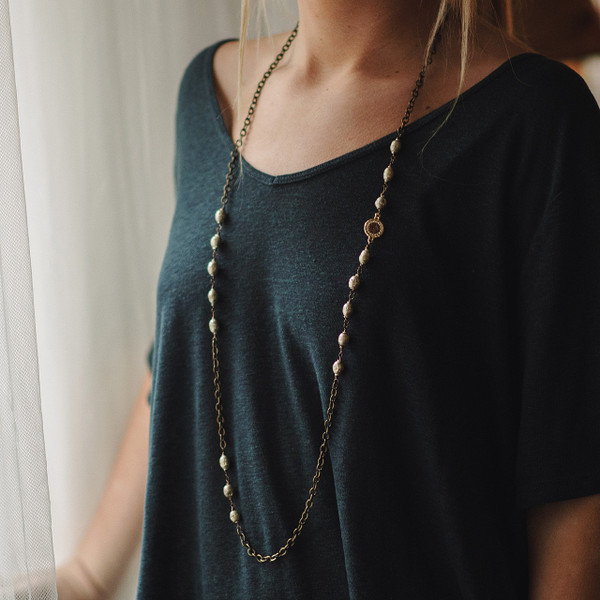 African Prayer Bead Necklace