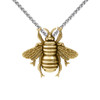 Large Bee Pendant Gold Vermeil