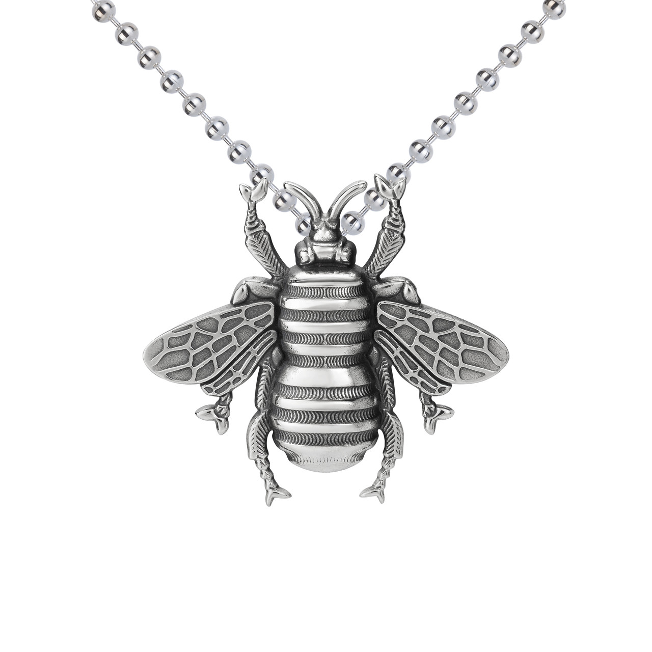 Large bee pendant sterling silver colbydavisofboston large bee pendant sterling silver aloadofball Image collections