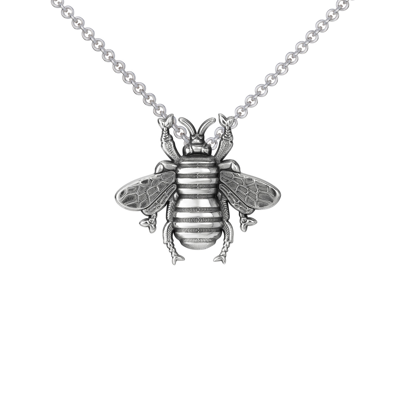 Small bee pendant sterling silver colbydavisofboston small bee pendant sterling silver aloadofball Images