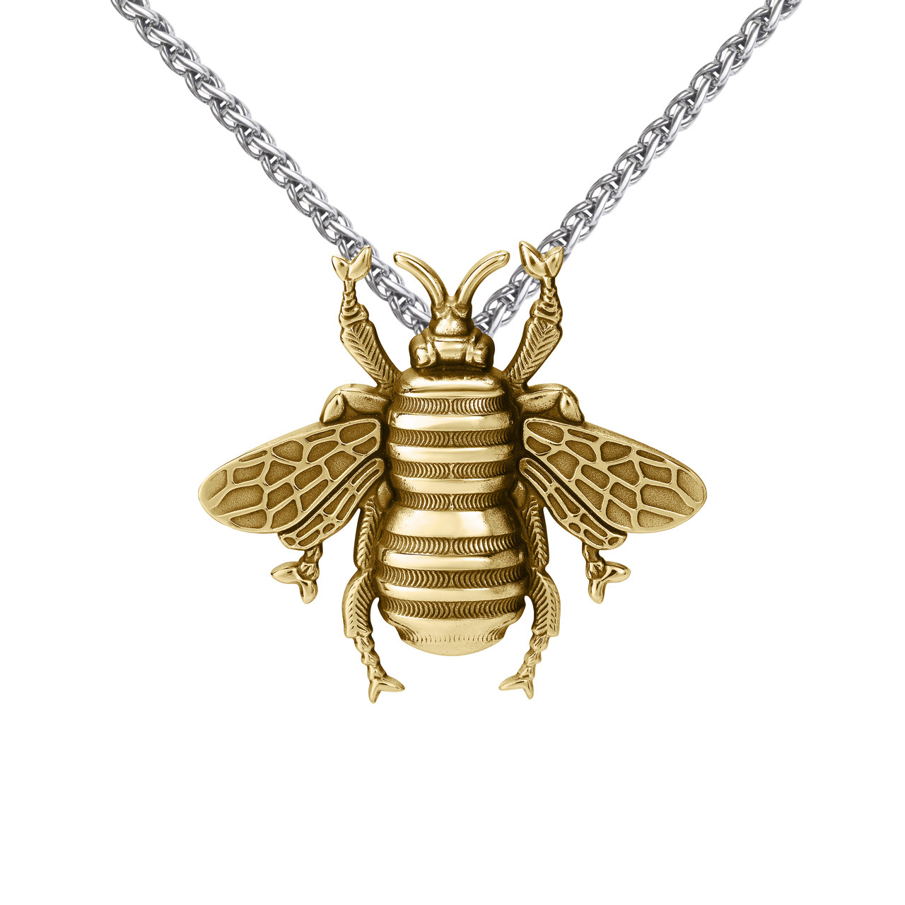 Large bee pendant gold vermeil colbydavisofboston large bee pendant gold vermeil aloadofball Images