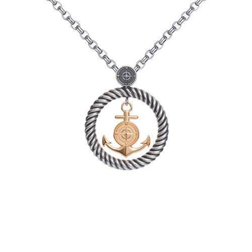 Colby Davis Pendant: Rowe's Wharf Large Vermeil (chain sold separately)