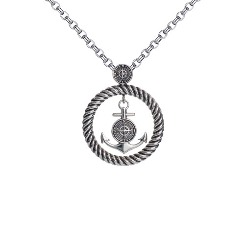 Colby Davis Pendant: Rowe's Wharf Large Sterling (chain sold separately)