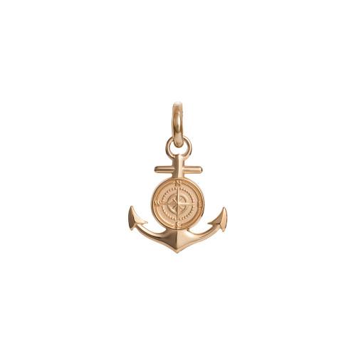 Colby Davis Pendant: Small Rowe's Wharf Anchor Charm Vermeil