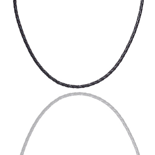 Colby Davis Leather Braided-Black
