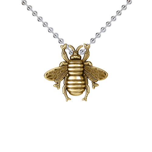 Small Bee Pendant Gold Vermeil