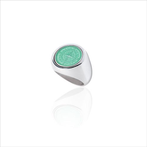 Colby Davis Signet Ring - Light Green