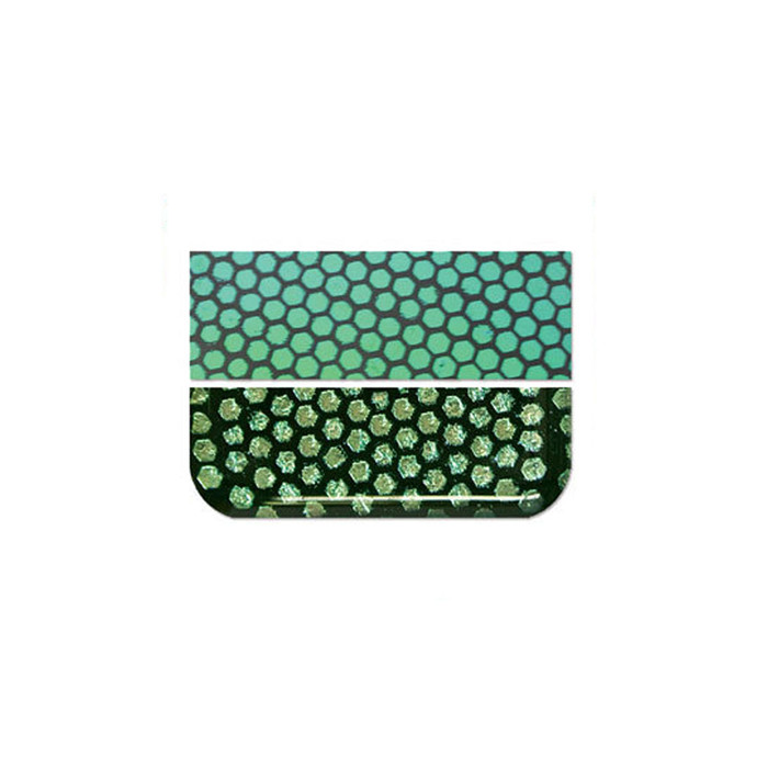 Fuseworks Dichroic Honeycomb Green Glass - 50 x 76mm