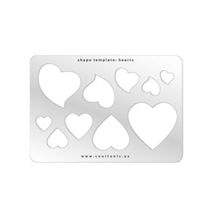 Jewellery shape template - Hearts