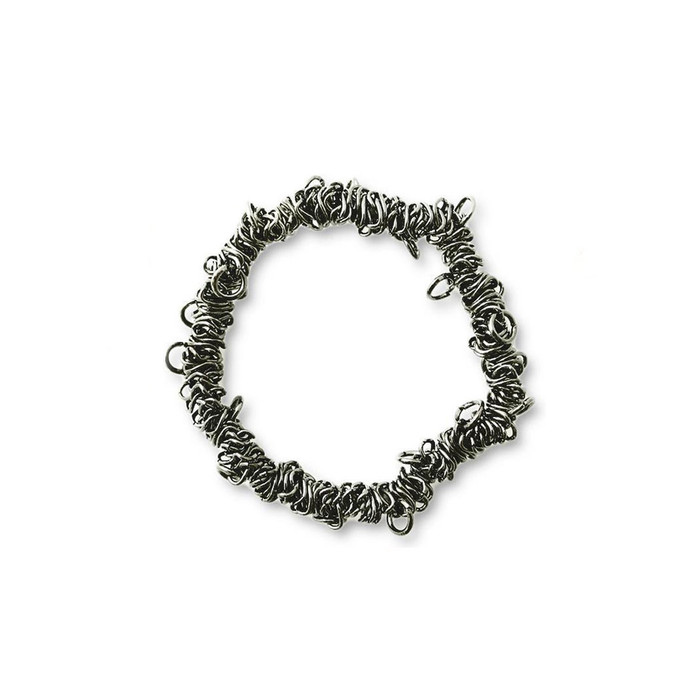 Bungee Stretch Bracelet - Black Metal