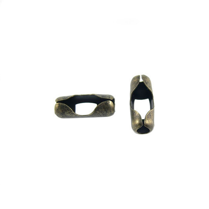 Ball Chain Connectors - Antique Brass - Pack of 20