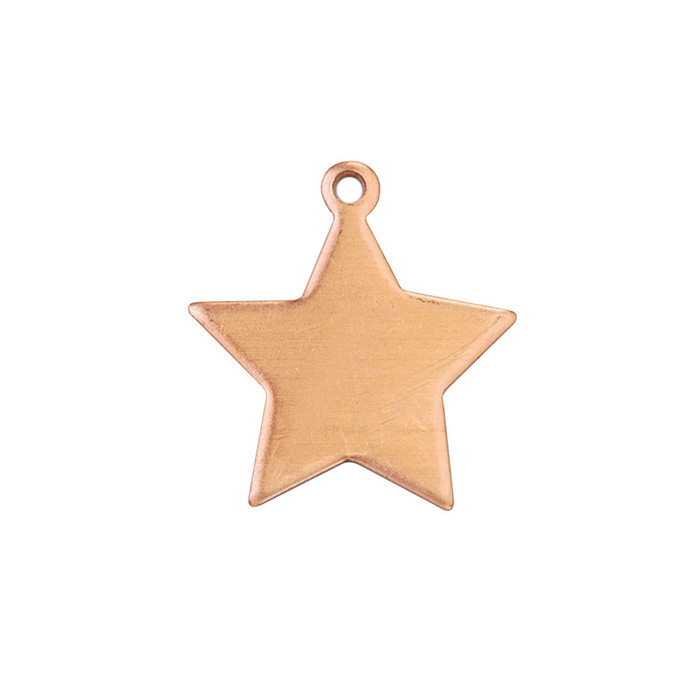 Copper Blank - Star - 20 x 17mm