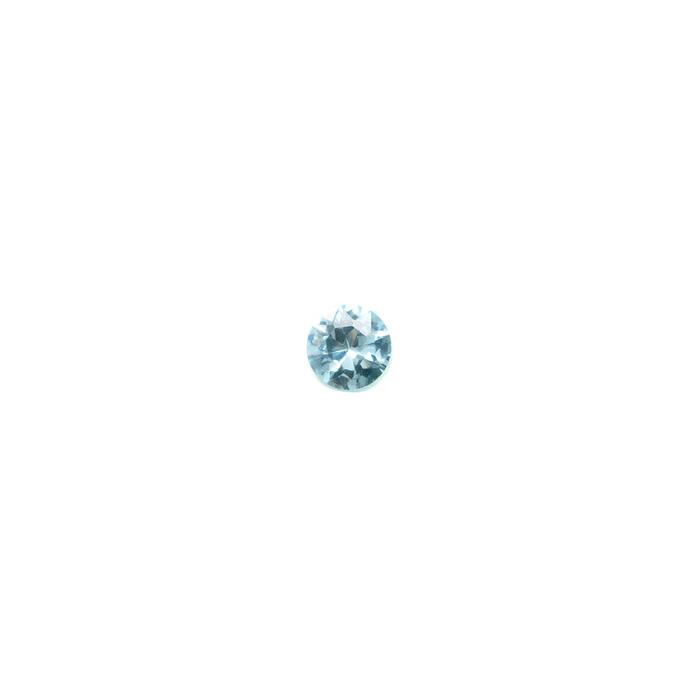 Lab Created Gemstone - Aquamarine Round 4mm (Non-fireable)