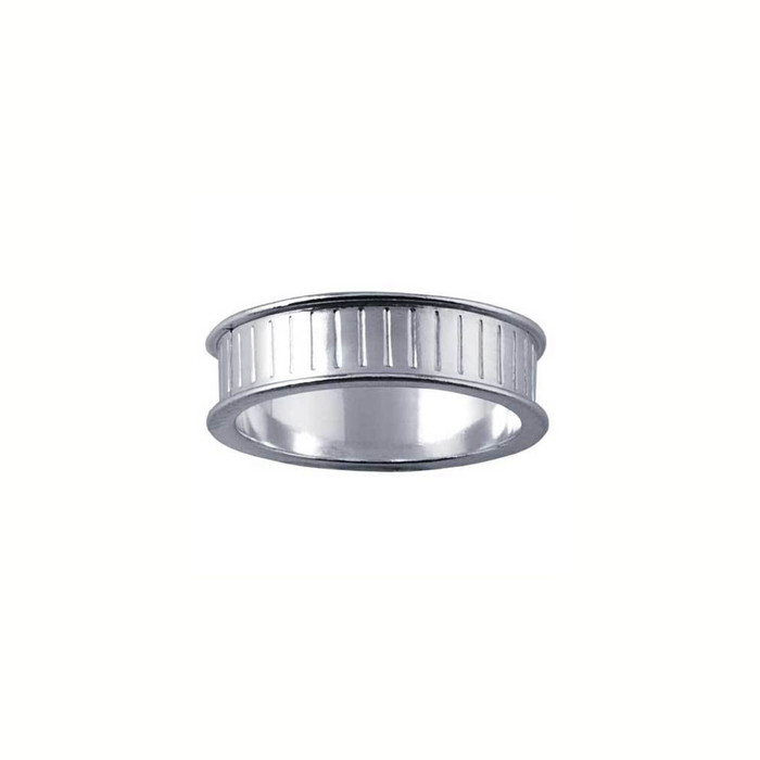 Ring Core 6mm wide - Channel - Silver - UK Size Q
