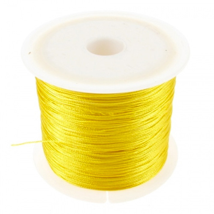 Macramé Twisted Nylon Cord (0.6mm) 100m Roll - Yellow