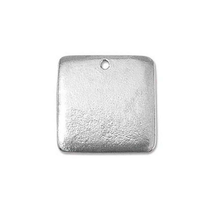 Pewter Blank Square 15/16""