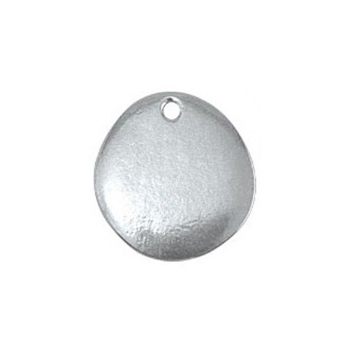 "Pewter Blank River Stone 1.9cm (3/4"")"