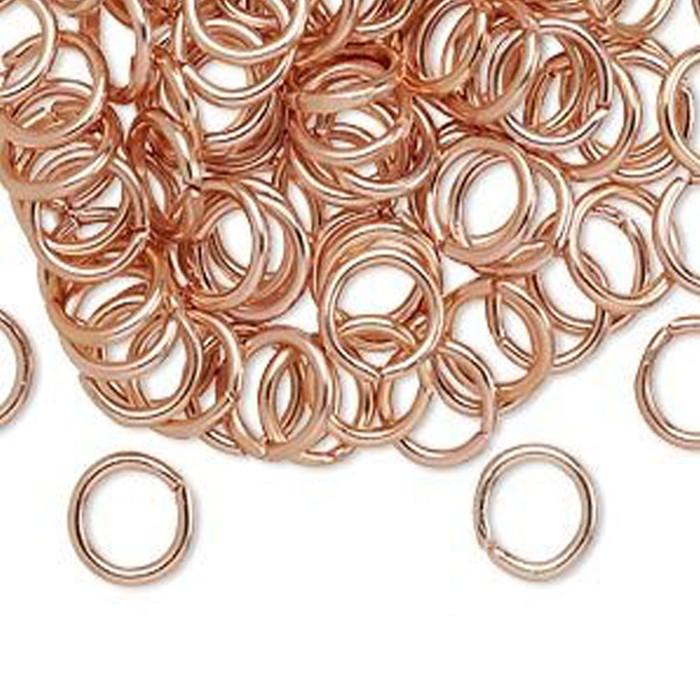 Aluminium Jump Rings - 8mm Copper - 100pcs