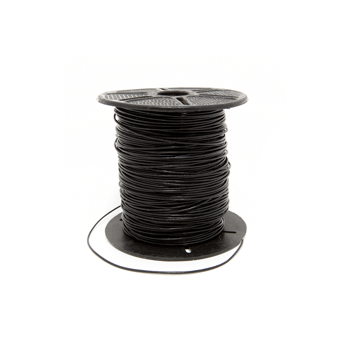 Leather Cord - Black (1mm thick) - 1m