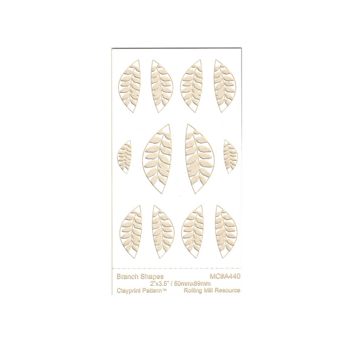 RMR Laser Texture Paper - Branch Shapes - 50 x 89mm