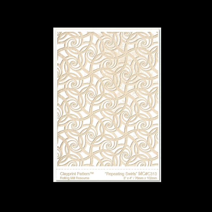 RMR Laser Texture Paper - Repeating Swirls - 76 x 102mm