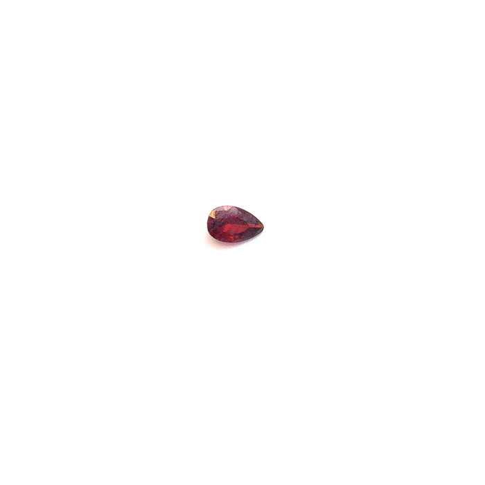 Lab Created Gemstone - Garnet Pear