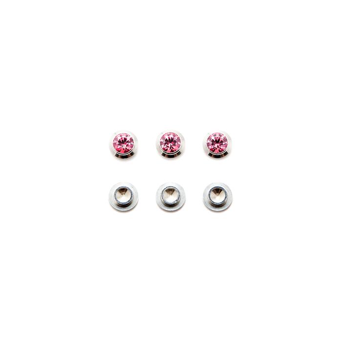 CZ Gemotion Rivet - Pink 4mm - 3pcs