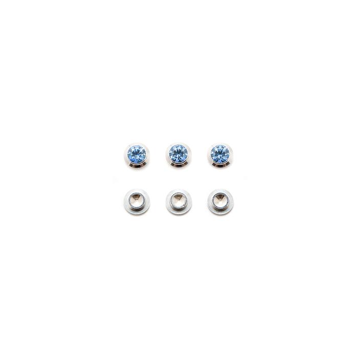 CZ Gemotion Rivet - Blue 3mm - 3pcs