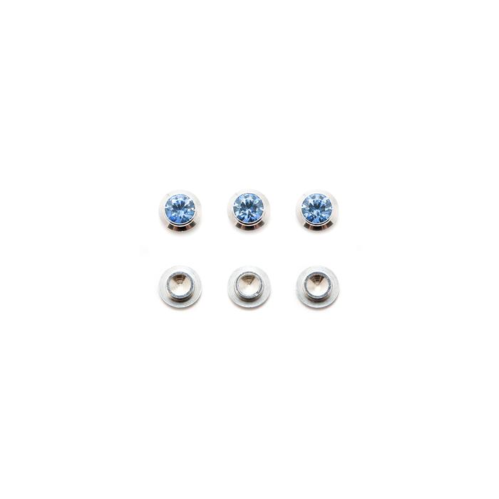 CZ Gemotion Rivet - Blue 4mm - 3pcs