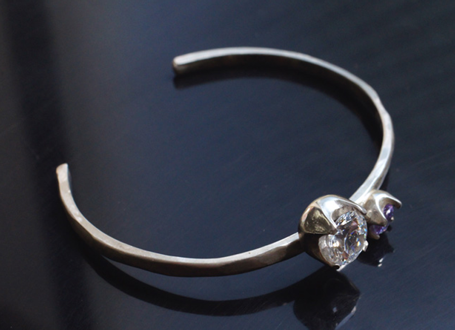 Sterling Silver bangle made with ACS 950