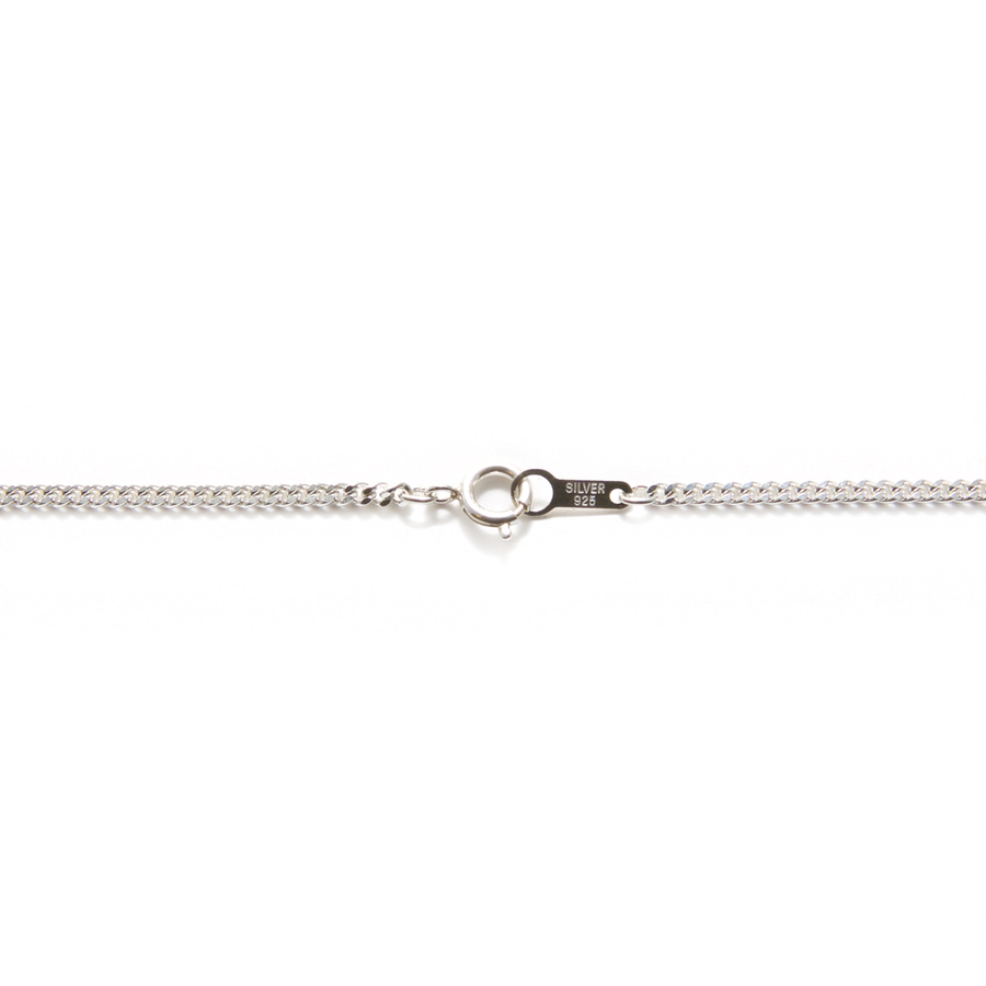 Finished Diamond Curb Chain - Sterling Silver - 52cm