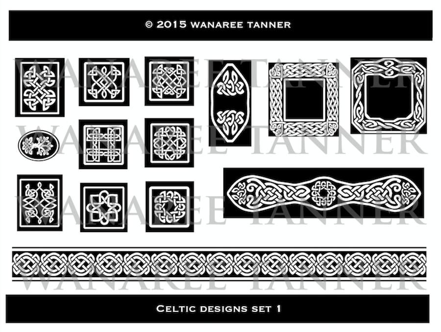 Wanaree Tanner Signature Texture Plate - Trinity Tree of Life (Celtic 1)