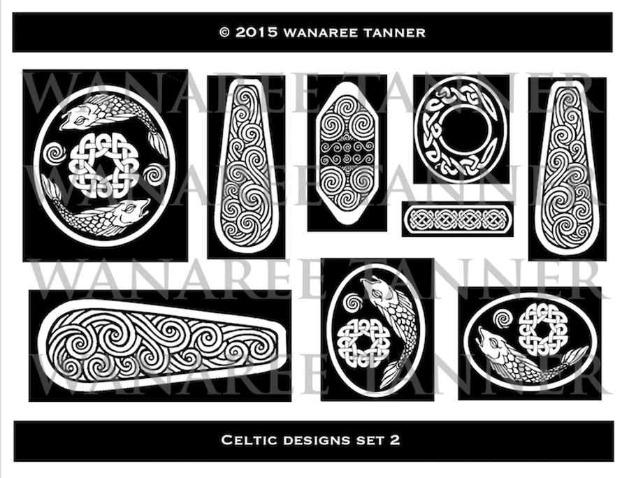 Wanaree Tanner Signature Texture Plate - Salmon of Knowledge (Celtic 2)