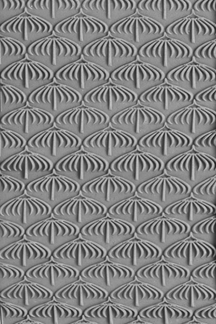 Large Acrylic Texture Roller - Umbrellas 7.5cm