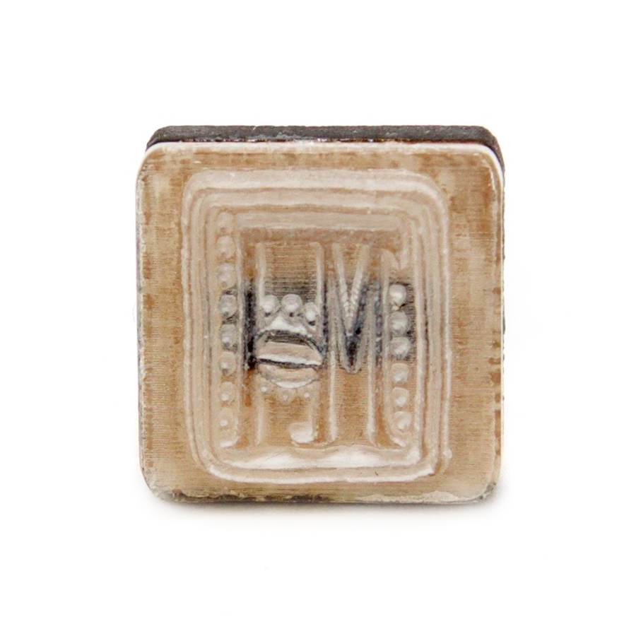 Acrylic stamp head - best for using with clay