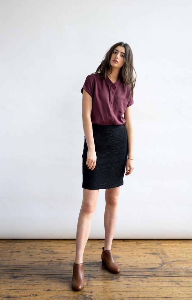 Edith Black Pencil Skirt