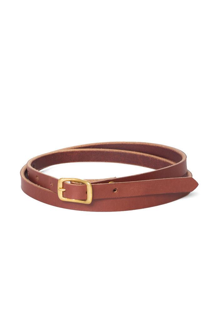 Wood & Faulk Matchstick Belt - Cognac