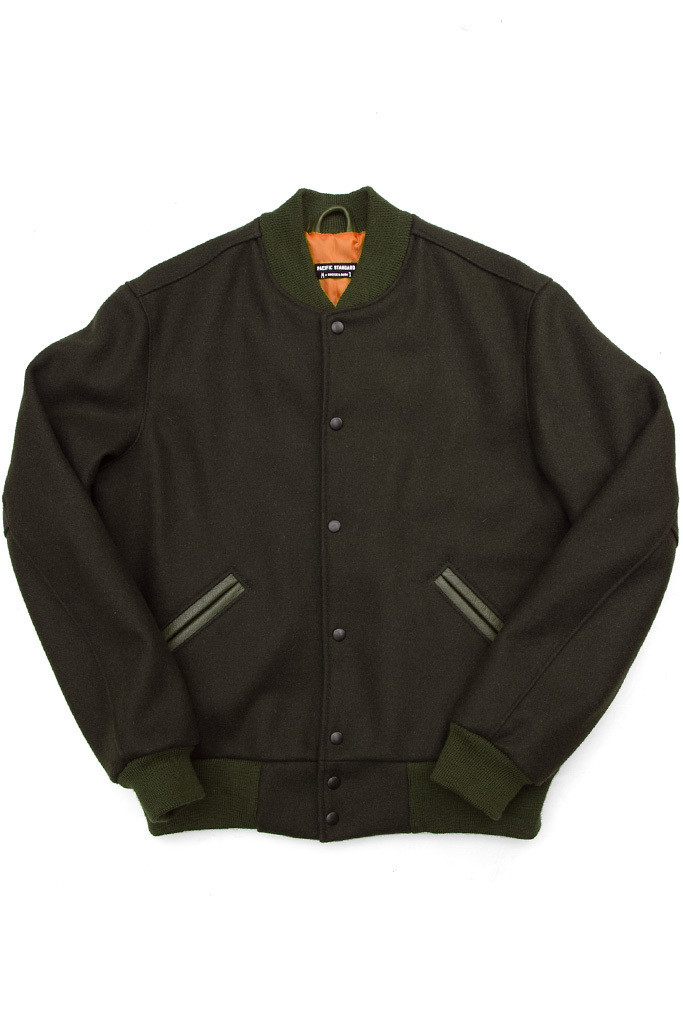 Pacific Standard Varsity Jacket Oive