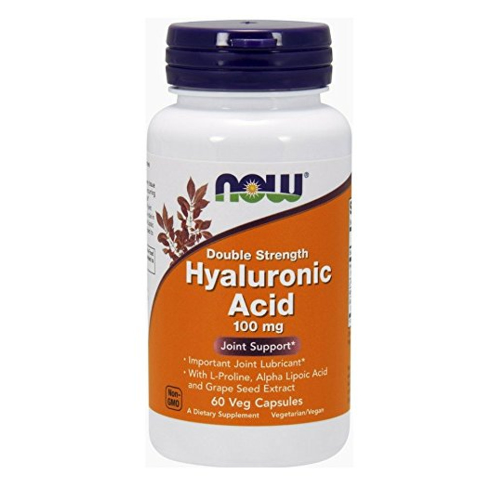 Hyaluronic Acid 100 mg 60 Vcaps® - NOW Foods