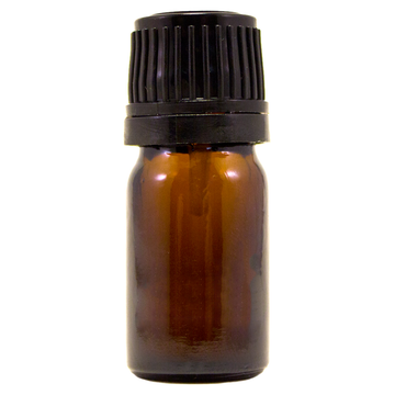 1/6 fl oz (5 ml) Amber Glass Bottle w/ Euro Dropper