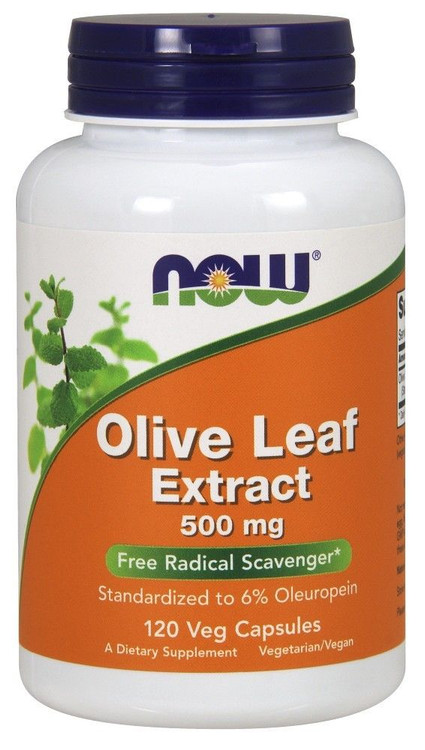 Olive Leaf Extract, 500 mg (120 Vcaps®) - NOW Foods