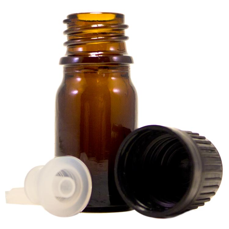 1/6 fl oz (5 ml) Amber Glass Bottle w/ Euro Dropper - 765 Pcs/Case
