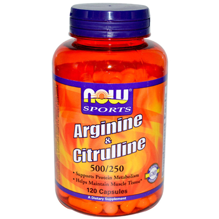 Arginine & Citrulline 500/250 (120 Caps) - NOW Foods