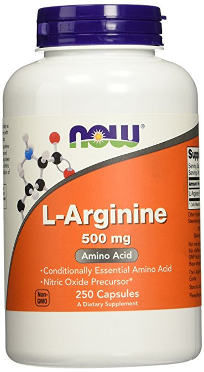 L-Arginine, 500 mg (250 Caps) - NOW Foods