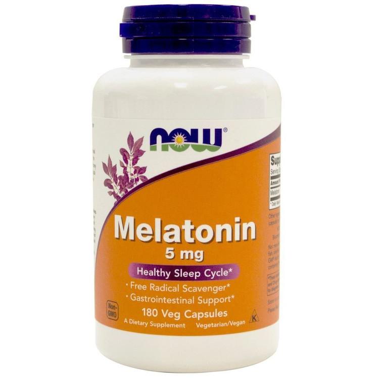 Melatonin, 5 mg (180 Vcaps®) - NOW Foods