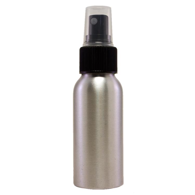 2 fl oz Aluminum Bottle w/ Black Spray Cap