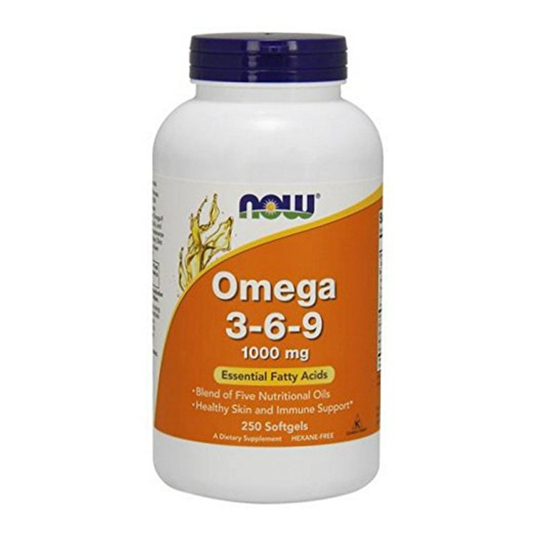 Omega 3-6-9 1000 mg, 250 Softgels - NOW Foods