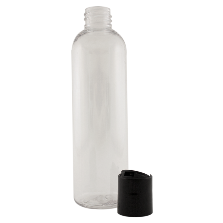 4 fl oz Clear Plastic Bottle w/ Black Dispenser Lid