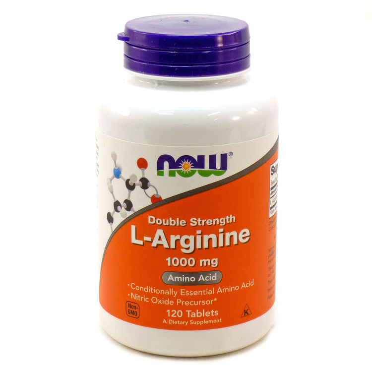 L-Arginine 1000 mg 120 Tablets - NOW Foods